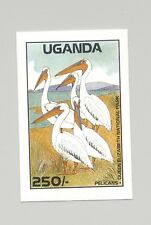 Uganda #640 Pelicans, Birds 1v Imperf Proof