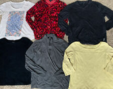 Eileen Fisher Lands End Calvin Klein Lot Of Classy Womans Shirts Business Sz Lrg