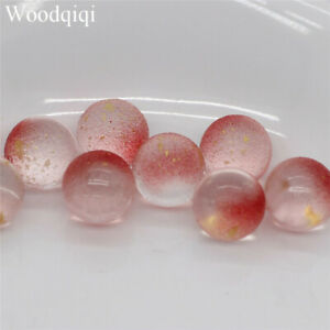 12mm 20PCS Round Glass Loose Beads DIY Colorful Handmade Material Popular