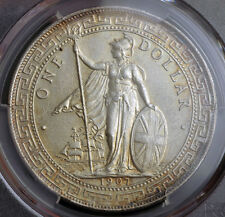 1907, Hong Kong. Beautiful British Silver Trade Dollar ($1) Coin. PCGS MS-62!