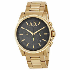 Armani Exchange AX2095 Men's Gold Tone Stainless Steel Band Black Dial watch