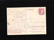 Germany WWII Hellesheim 1944 Hitler Postal Card Slogan At Left Shade Varies  3p
