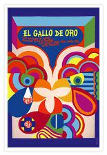 Cuban movie Poster 4 Mexico film GALLO DE ORO.Cockfight.World Graphic Design