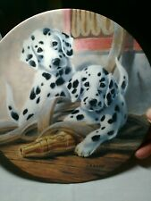 "Its a Dogs Life ""We've Been Spotted"" Collectors Plate by Knowles"