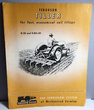 1947 Ferguson Tiller B-20 & 9-Bo-20 Farm Tractor Implement Brochure