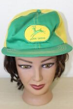 John Deere VTG Patch Green Yellow Snapback Baseball Trucker Mesh Cap Hat