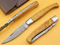 Damastmesser Pattada Jagdmesser Sardische Messer Taschenmesser GROSS 23cm (RD29o