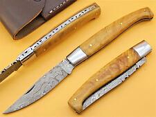Damastmesser Pattada Jagdmesser Sardische Messer Taschenmesser GROSS 23cm (T29o)