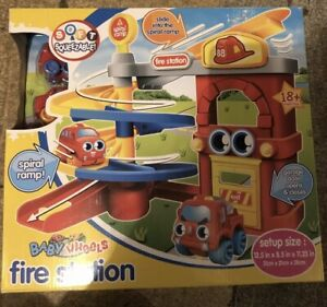 Baby Wheels Fire Station Bnib