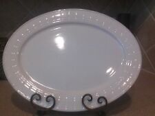 """COUNTRY LIVING OVAL WHITE SERVING PLATTER  16"""" X 12"""""""