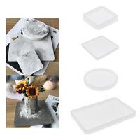 Quadratische Runde Untersetzer Form Silikon Harz Casting Form DIY Getrocknetes