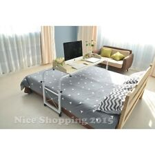 Overbed Table Laptop Bed Work Station Rolling Desk Bedroom Aids Fit Twin - King