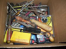 Vintage Junk Drawer Lot, Mostly Tools, Axe, Great Stuff, Over 13 1/2 Pounds