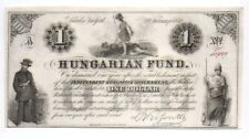 1852  Hungarian Fund $1 bond Payable Independent Hungarian Government - Fine