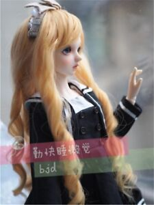 Long Wavy curly blonde hair Wig For 1/3 SD AOD DOD DZ BJD Dollfie