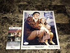 Richard Kiel & Blanche Ravelac Signed 8x10 Photo James Bond Moonraker + JSA COA