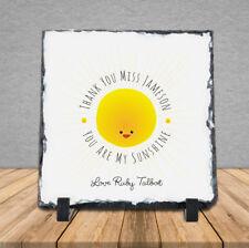 Personalised Handmade Thank You Teacher Happy Sunshine Sun Rock Slate Gift Cute
