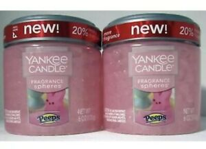 2 BRAND NEW Limited Edition Yankee Candle 'Marshmallow Peeps' Fragrance Spheres