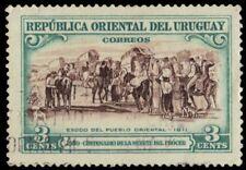 """URUGUAY 589 (Mi760) - Jose Artigas """"Flight of the People"""" (pf1716)"""