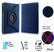 360 Rotating PU Leather Case Cover For Samsung Galaxy Tab A 8.0 T350/P350 Blue
