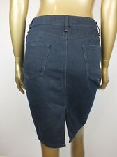 COUNTRY ROAD SKIRT DARK DENIM JEANS STRAIGHT PENCIL SKIRT - 6