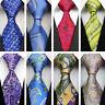 Blue Green Red Paisley Wedding Stripe Necktie 100% Silk Business Men's Tie