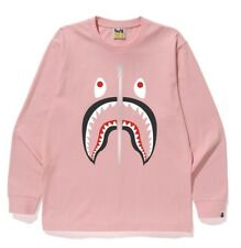 cf4be13dd A Bathing Ape Big Shark Long Sleeve Tee - Pink - Size Medium-Authentic