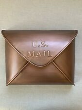 """NEW $179 Grandin Road """"US Envelope Mailbox"""" Copper 170322 Mail Box Wall Mount"""