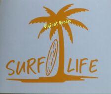 Surfing Decal Surf Life Surfboard Waves Ocean Car Truck Jeep SUV Window Sticker