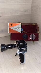 Bolex P2 8mm Zoom Movie Cam. w/Case/Ins. Original Manual/strap/cable
