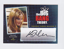 BIG BANG THEORY SEASON 5 KATIE LECLERC AUTOGRAPH A18 AUTO CRYPTOZOIC 2013