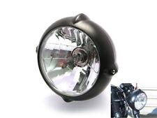 """Faro Para Harley Davidson Sportster Dyna Softail Matt Negro 12V 55W 6.7"""""""