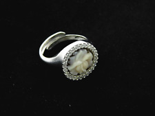 Cameo Ring Round 925 Sterling Silver Hand Made in Italy ORIGINAL jewels W Coral
