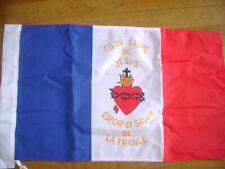 DRAPEAU Sacré Coeur  FRANCAIS bandiera flag france catholique roi jésus Jmj