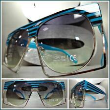 f6a8e7db75 OVERSIZE VINTAGE 70s RETRO Style SUN GLASSES Unique Funky Exotic Frame Flat  Lens