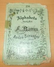 BRODERIE ABECEDAIRE ALPHABET CATALOGUE ALPHABETS VARIES DE ROUYER BERANGER N°256