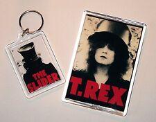 T.REX / MARC BOLAN -  'THE SLIDER' LARGE SIZED KEYRING & JUMBO FRIDGE MAGNET SET
