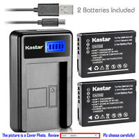 Kastar Battery LCD Charger for Panasonic DMW-BCG10 DMW-BCG10PP & LEICA BP-DC7