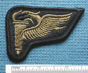 AIRBORNE PATHFINDER TORCH, SUBDUED POCKET PATCH, FULL EMBROIDERED, MERROWED EDGE