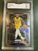 2019-20 Panini Prizm LEBRON JAMES #129 GMA Graded MINT 9 Lakers Psa Sgc Bgs
