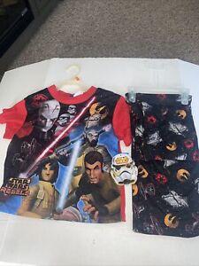 Boys Star Wars 2pc Pajama Set Size 6/7 NWT