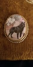 Schipperke Dog vintage like brass pin brooch jewelry mydogsocks