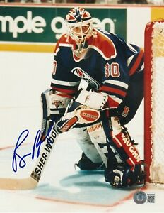 BILL RANFORD Signed Edmonton OILERS 8x10 PHOTO w/ Beckett COA (BAS)