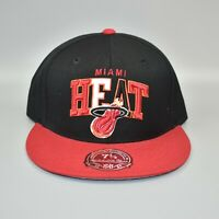 Miami Heat Mitchell & Ness NBA Spell Out Logo Men's Fitted Cap Hat - Size: 7 1/2