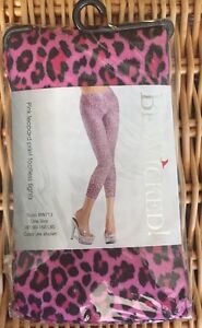 BW-713 Be Wicked Pink Leopard Print Footless Tights One Size 90-160 lbs.