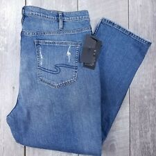 Silver Jeans Frisco Womens Plus 18 40x28 Distressed High Rise Mom Straight J33