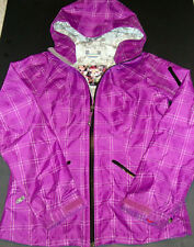 Burton Jacket Woman's Small Dryride Purple /White Jacket Hooded  EUC