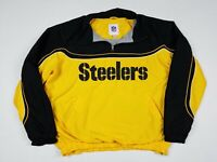 Pittsburgh Steelers NFL Pullover Lined Windbreaker Adult XL Flaws