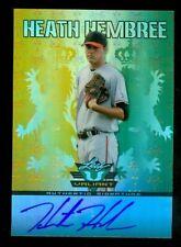 2011 Leaf Valiant Draft #HH1 Heath Hembree Auto - NM-MT