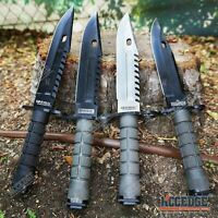 "12.75"" M9 BAYONET SURVIVAL Knife + Scabbard w/ Saw Back Wire Cutter"